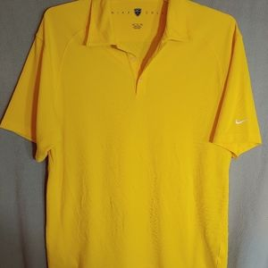 Nike Golf Dry Fit Yellow Polo Size X-Large. NWOT